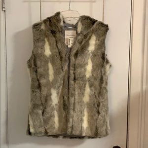 Aeropostale Faux Fur Vest with Hood